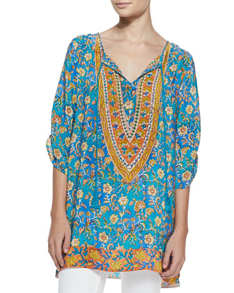 Madison Long Silk Tunic, Women's
