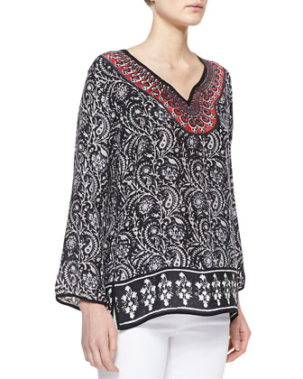 Talia Silk Printed Tunic
