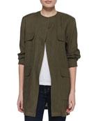 Long Safari Linen Jacket