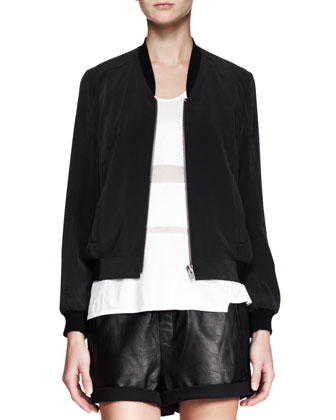 Terra Zip Bomber Jacket, Horizon Striped Jersey Tank & Combo Leather ...