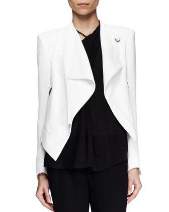 Sugar Cropped Drape Jacket, Lush Twist-Neck Top & Relic Cropped Drawstring ...