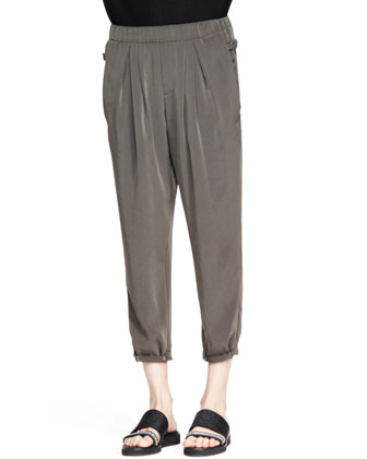 Terra Pleated Cropped Pants