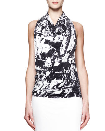 Meteor Printed Racerback Top and Ion Jersey Midi Skirt