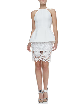 Rampart Lace-Skirt Peplum Dress
