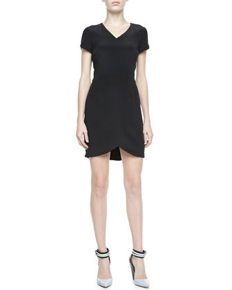 Teagan Cap-Sleeve Dress