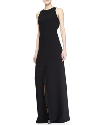 Open-Back Tie Long Dress