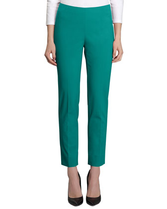 Stan Bi-Stretch Cropped Pants, Cove
