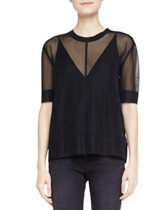 Elsa Sheer Short-Sleeve Top