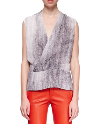 Eugenie Monochromatic Crossover Blouse