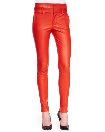 Bartlett Leather Skinny Pants