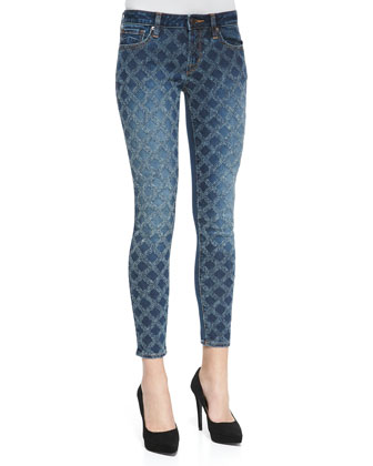 Florence Quilted-Illusion Skinny Jeans