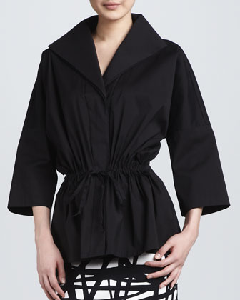 Justina Drawstring Topper Jacket