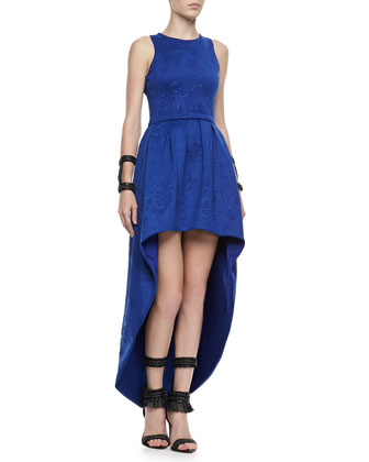 Tabi Embroidered High-Low Dress