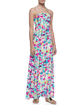 Gabriella Silk Printed Maxi Dress