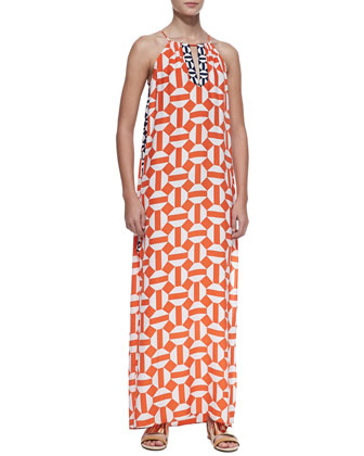 Tristan Silk Printed Maxi Dress