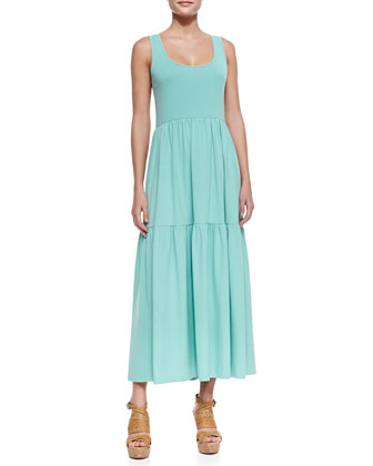 Tiered Long Tank Dress, Spearmint