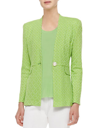 Textured One-Button Jacket, Women's