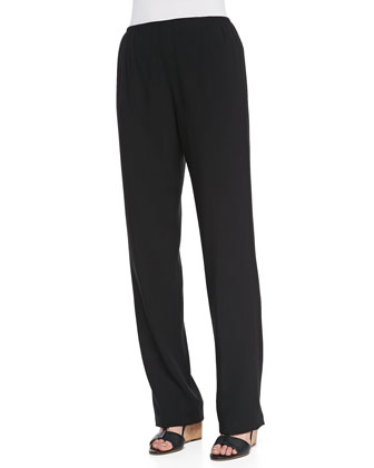 Cabo Straight-Leg Pants, Black
