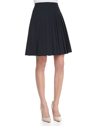 Haidin Pleated A-Line Skirt