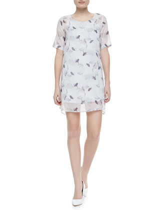 Lousaine Printed Short-Sleeve Dress