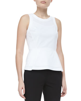 Ballise Cotton Peplum Top