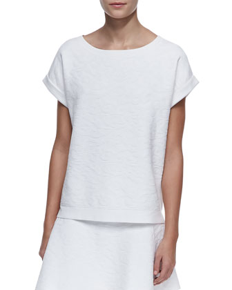 Sorchan Short-Sleeve Jacquard Top