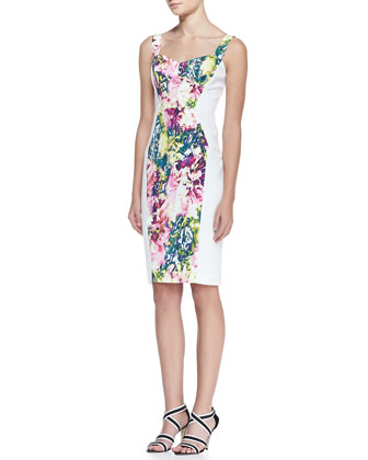 Sadie Floral-Print Sheath Dress