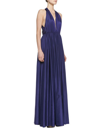 Tatianna Halter-Neck Gown