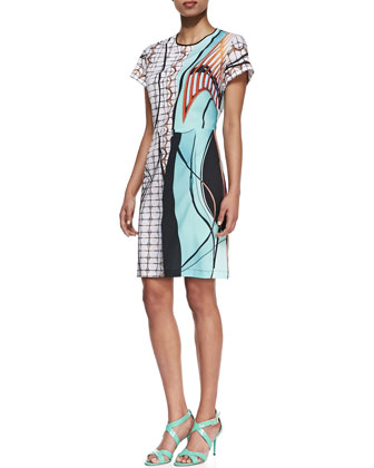 Palm Springs Jersey Printed Dress