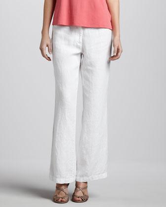 Heavy Linen Trousers, Petite