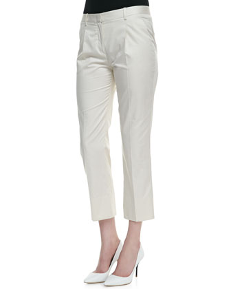 Lacole Short-Sleeve Peplum Top & Jorah Pleated Straight-Leg Pants