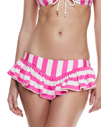 Boho Striped Underwire Swim Top & Skirted Bottom