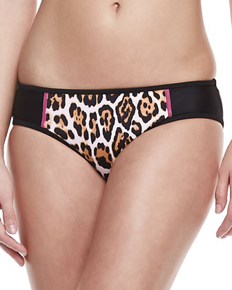 Wildcat Printed Cropped Rashguard, Underwire Top & Hipster Bottom