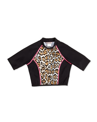 Wildcat Printed Cropped Rashguard