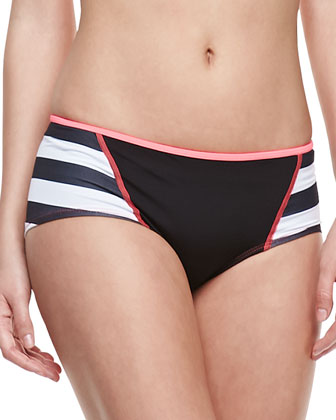 Promenade Sporty Striped Swim Boyshorts
