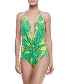 Banana Leaf One-Piece Swimsuit