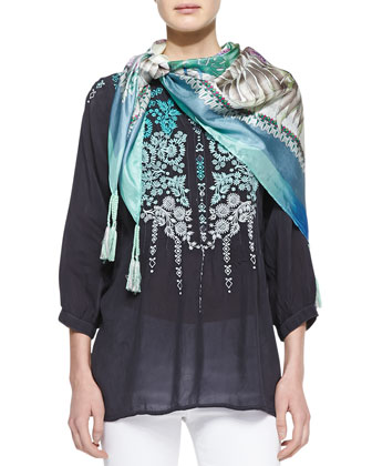 Blue Springs Printed Scarf