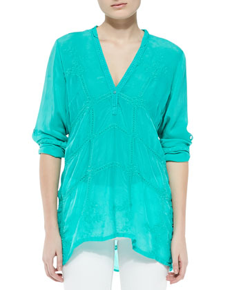 Mandarin Georgette Blouse, Women's
