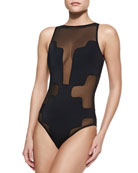 Selina Cutout Crisscross Back One-Piece Swimsuit