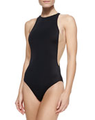 Stella Mesh-Sides One-Piece Swimsuit