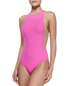 Stella Mesh-Side One-Piece Swimsuit