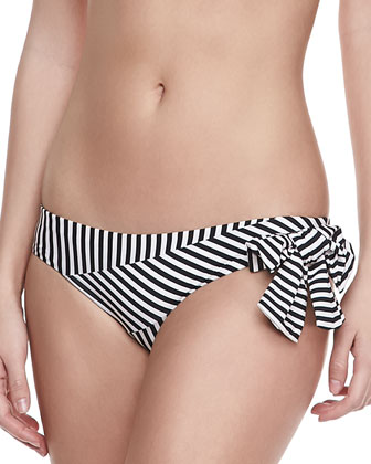 Kari Striped Bandeau Top & Bow Swim Bottom