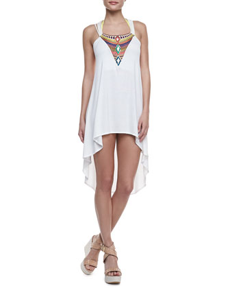 Indi Ivory High-Low Coverup Dress