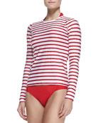 UPF 50 Classic Stripe Long-Sleeve Board Shirt