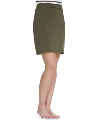 UPF 50 Active Slim Above-Knee Coverup Skirt