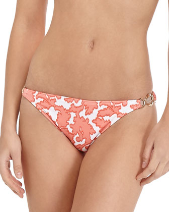 Reef-Print Halter Swim Top & Ring-Side Bottom
