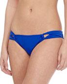 Solid Twist-Side Swim Bottom