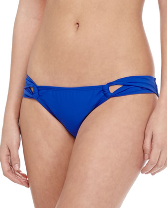 Solid Twist-Side Swim Bottom