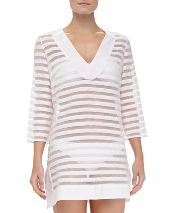 Pizal Stripe Tunic Coverup