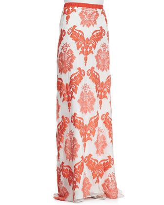 Marihany Chiffon Embroidered Maxi Skirt, Dali Floral-Print Sleeveless Top & ...